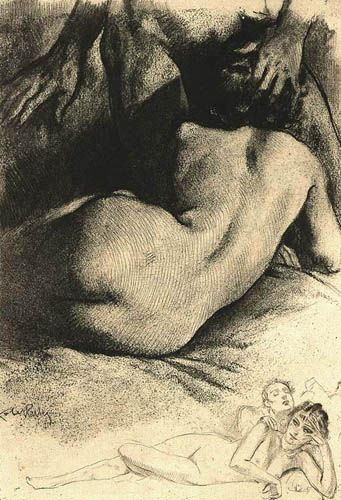 Erotic pillory illustrations