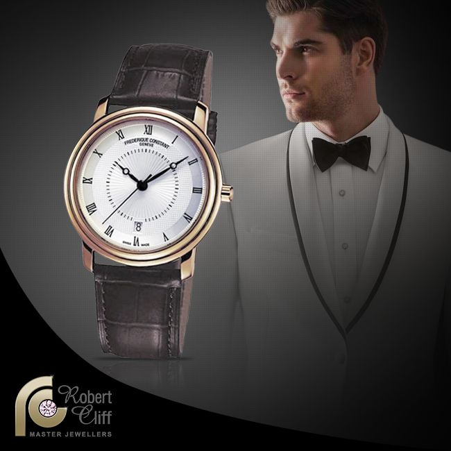 "Feel like a real gentleman wearing this @Frederique Constant ""Chopin"" Watch - in store now for $2000 #gentswatch #mensfashion #mensstyle #watch #accessory #beautiful #promo #sale #men #fashion #trend #watchlover #jewellery #bracelet #black #gold"