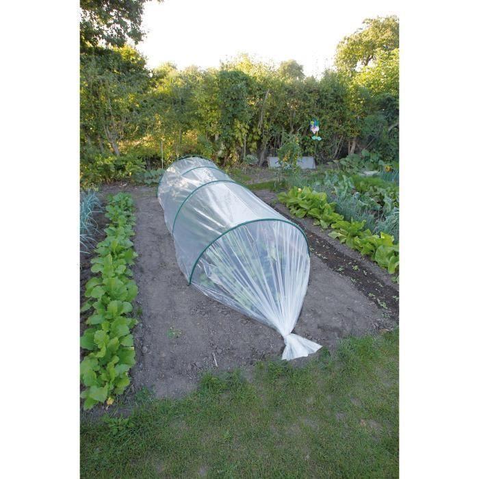 Film De Forcage Ldpe Transparent 50µ 2x10m Lot De 2 Dechets De Jardin Gazon En Rouleau Et Outils Jardinage