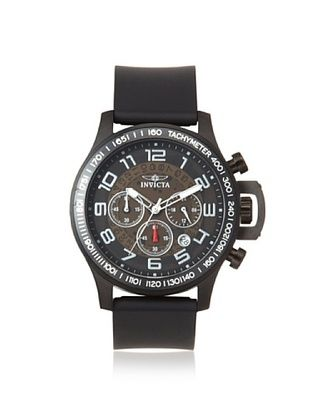 Invicta Men's 13807 Specialty Black Polyurethane Watch