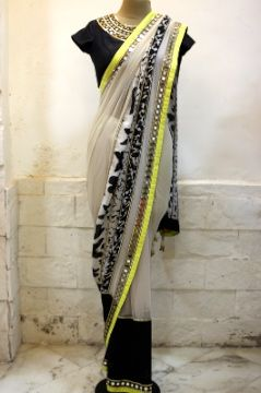 Beautiful Saree Blouse by Arpita Mehta on her Site http://arpitamehta.in/