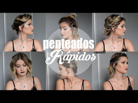 Penteados Rápidos para Cabelos Curtos | As Makes da Frá - YouTube
