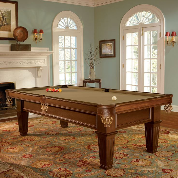 This Brunswick Newbury Pool Table Looks Stately In The Library.   Product  On Display   Pinterest   Pool Table And Brunswick Pool Tables