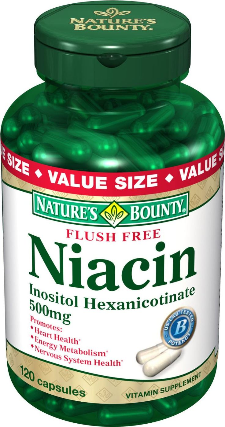 Niacin hair growth supplement