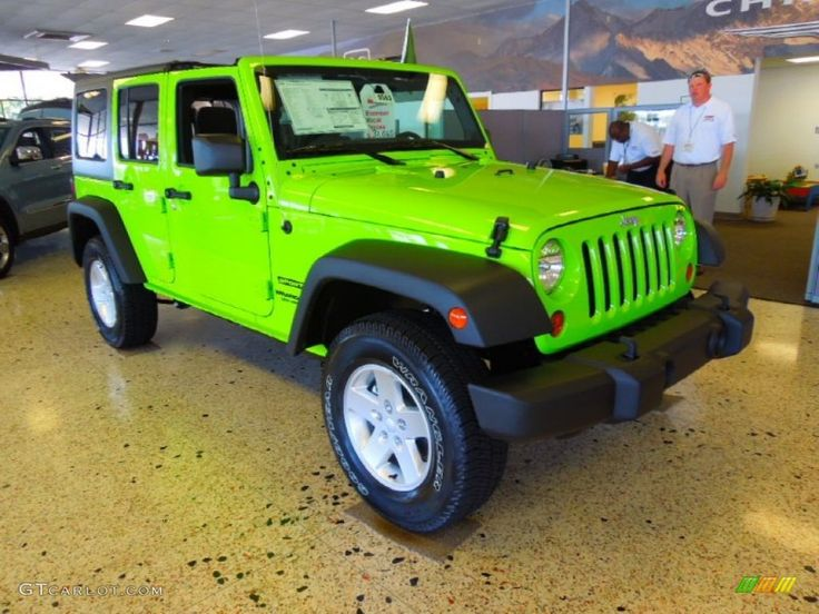 Neon Green Jeep Wrangler Unlimited Gecko Green Jeep Wrangler