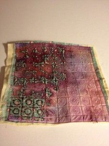 Beryl Taylor - FIRST STAGE OF USING TYVEK - STITCHING DESIGN AND BURNING AWAY WITH HEAT GUN