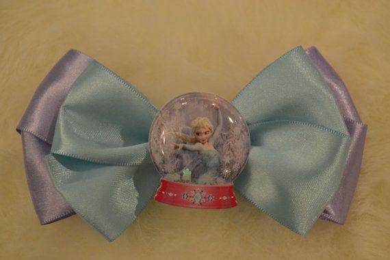 Elsa Frozen hair bow on alligator clip. hair by iSparklebaby