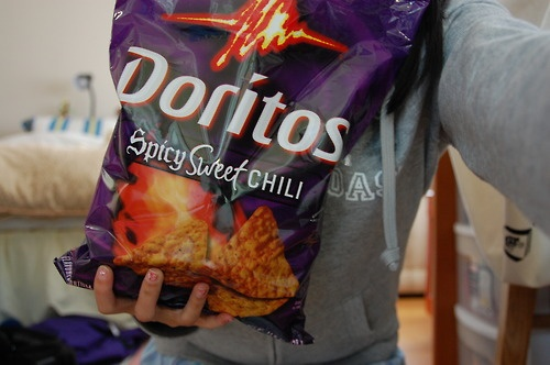 Spicy Sweet Chili Doritos are my thing.