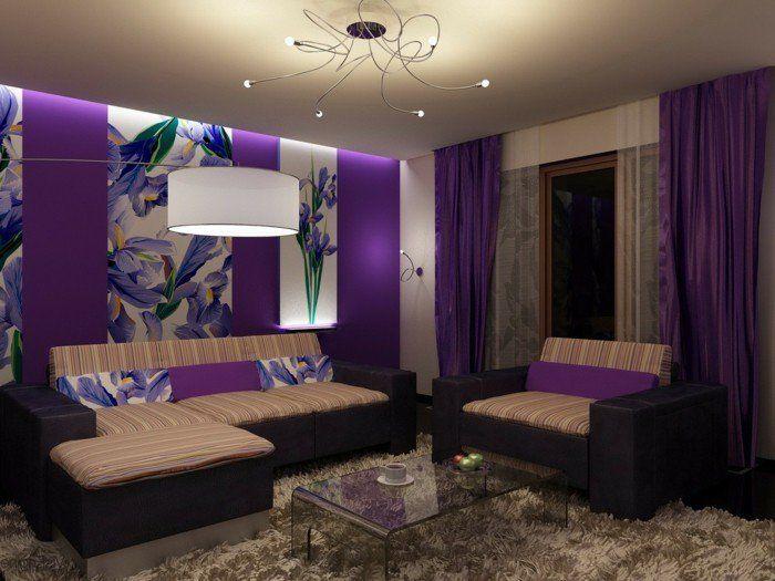 Die besten 25+ Lila küchen vorhänge Ideen auf Pinterest Lila - wohnzimmer ideen schwarz lila