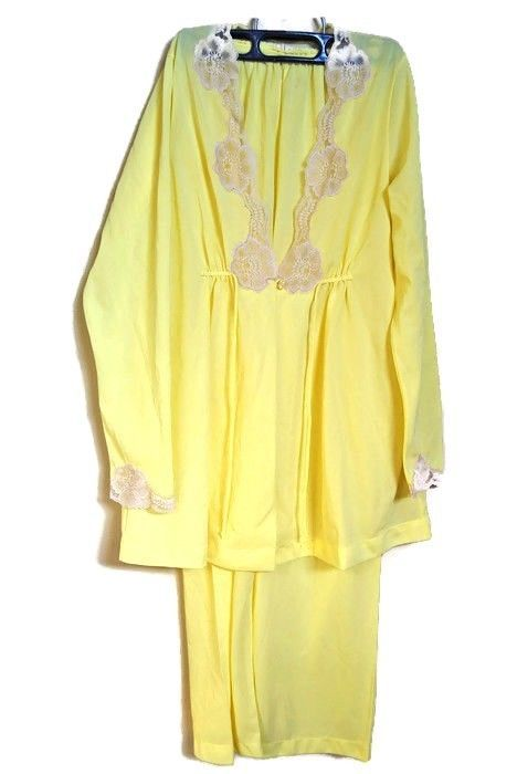 e0db54408eda Vintage Womens Pajamas 1960s Fashion Sears Yellow Nylon Lace Sheer Sexy Sz  S  Sears  vintagefashion  vintagesleepwear  1960s  1960sfashion  lingerie    ...