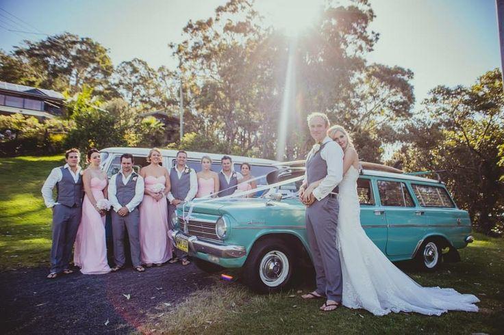 #Wedding #Photography #Australia #BridalParty #Classic #Car #Kombie
