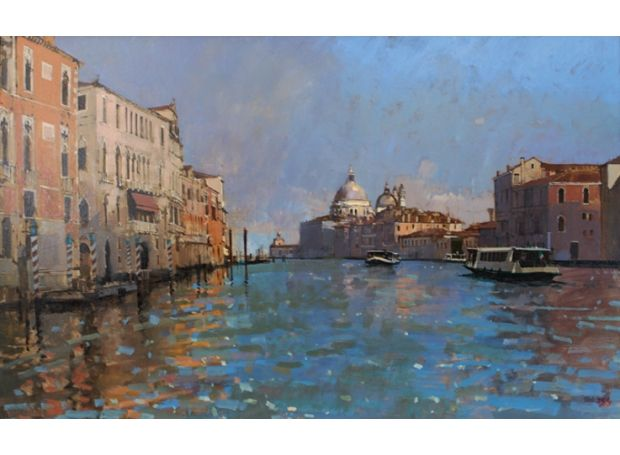 Vaporetto on the Grand Canal | | The Royal Society of British Artists Annual Exhibition 2016 | Mall Galleries