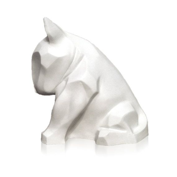 Bull Terrier sculpture white mat!