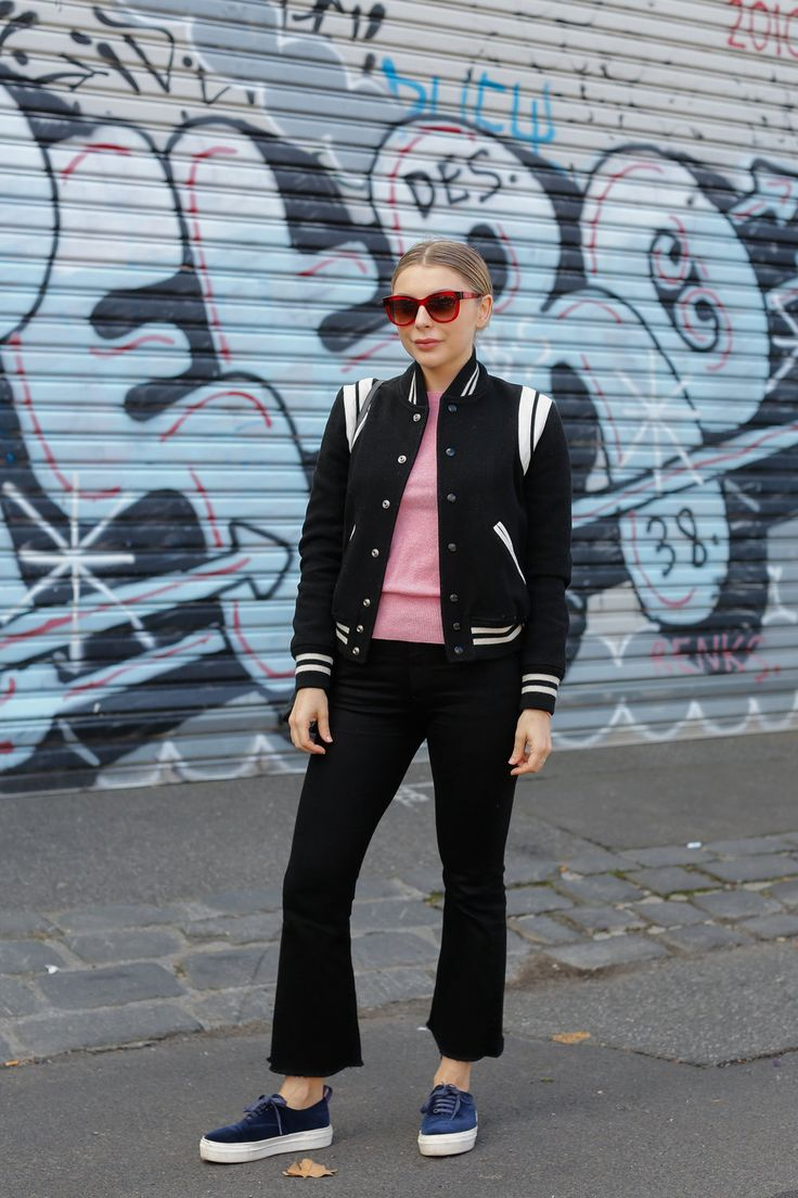 Brooke. Easey St, Collingwood.        My style is petty simple, it's anything Parisian or basics.I'm most     drawn to people with a quirky sense of style, like Kirsten Dunst or     chloe Sevigny...I work in music, so am also influenced by a lot of     musicians as well. My Saint Laurent