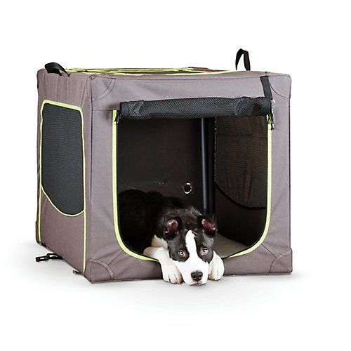 Special Offers - KH Mfg Classy Go Brown/Green Soft Dog Crate Xlarge - In stock & Free Shipping. You can save more money! Check It (September 23 2016 at 05:51PM) >> http://doghousesusa.net/kh-mfg-classy-go-browngreen-soft-dog-crate-xlarge/