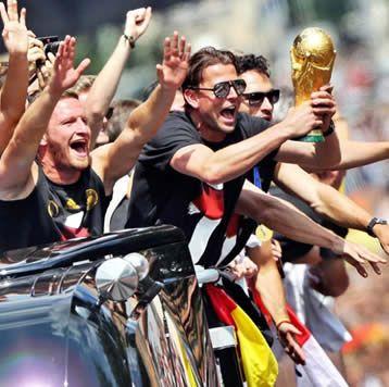 Fiesta en Alemania para los campeones del mundo