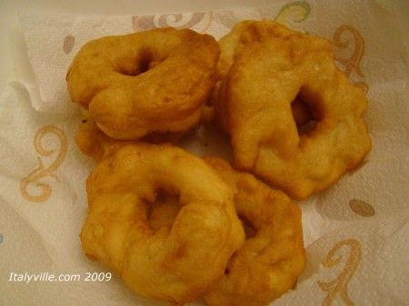 "Italian grispelle, or ""grease bells"" as we called them when we were growing up. A fried potato donut."