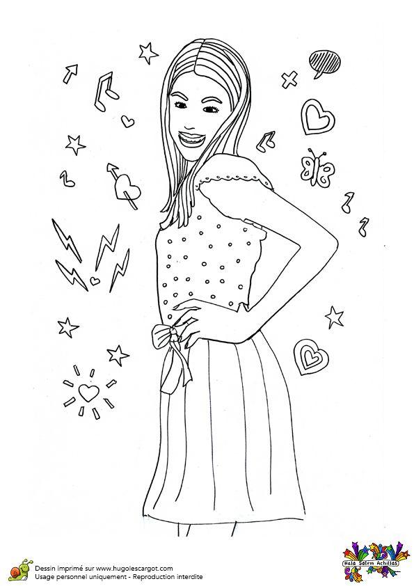Une photo de profil à colorier pour Violetta.