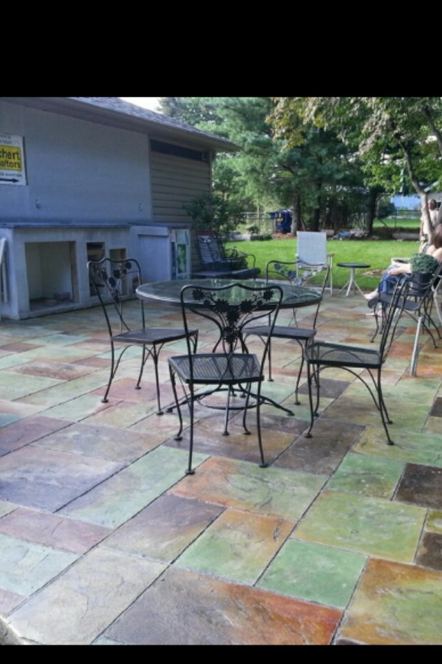 Concrete Patio Stamped And Stained ! Make Your Work Worth Being Passionate  About , And Have