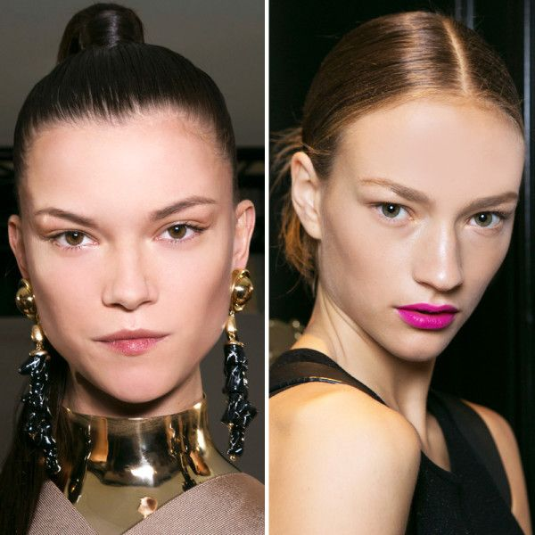 how to get the slicked back middle part hai
