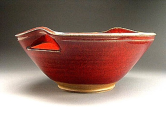 Cut handle bowl - 7Hx14.5diam   $215  Allan Buitekant  love the cutout approach to the handles