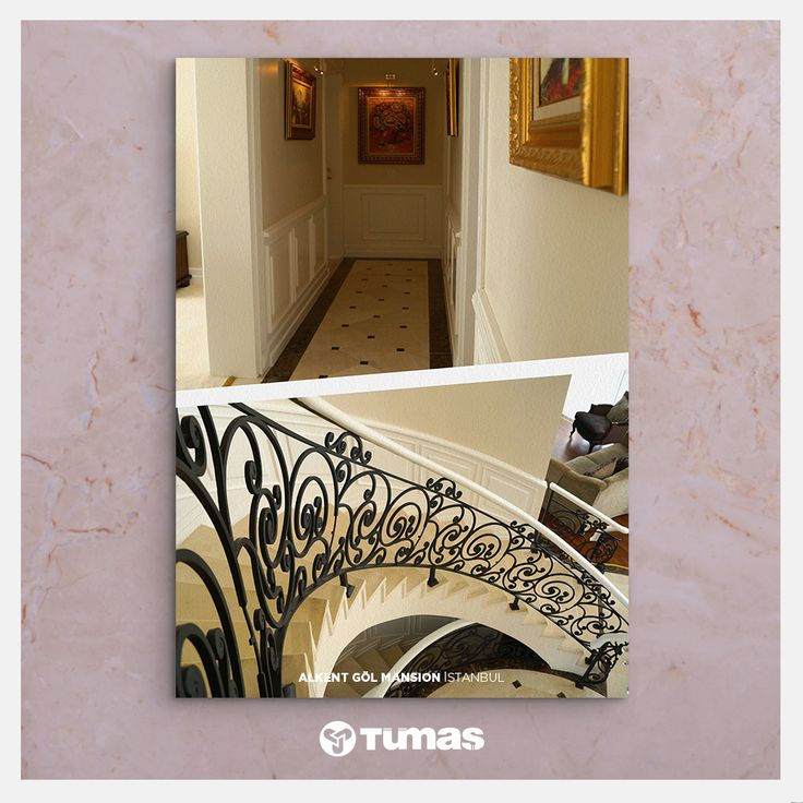 Project: Alkent Gol Mansion İstanbul Marble Used: Light Pearl / Marron Emprador /Bianco White 〰 Proje: Alkent Gol Mansion İstanbul Kullanılan Taş: Light Pearl / Marron Emprador /Bianco White  www.tumasmermer.com