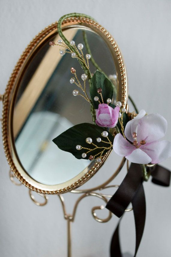 Floral Headband Floral Hair Vine Bridal by JanaRoyaleDesign