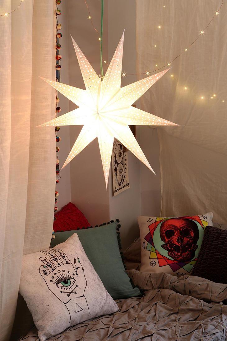 Paper lanterns nooks and white pillows on pinterest