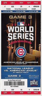 Chicago Cubs vs Cleveland Indians World Series Ticket Stub Game 3 (02144)