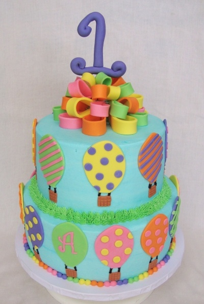hot air balloon cake By mbark on CakeCentral.com
