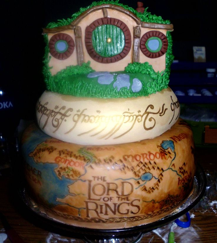 Awesome Whats So Trendy About Lord Of The Rings Birthday Cake That Birthday Cards Printable Giouspongecafe Filternl