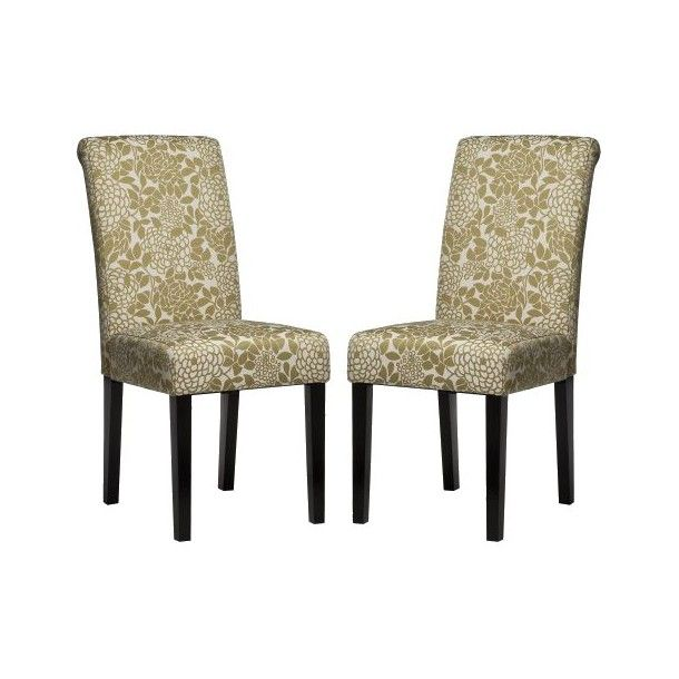 Avington dining chair set of 2 green white floral home sweet