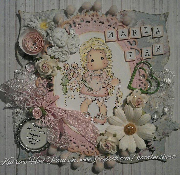 Birthday card for a little girl