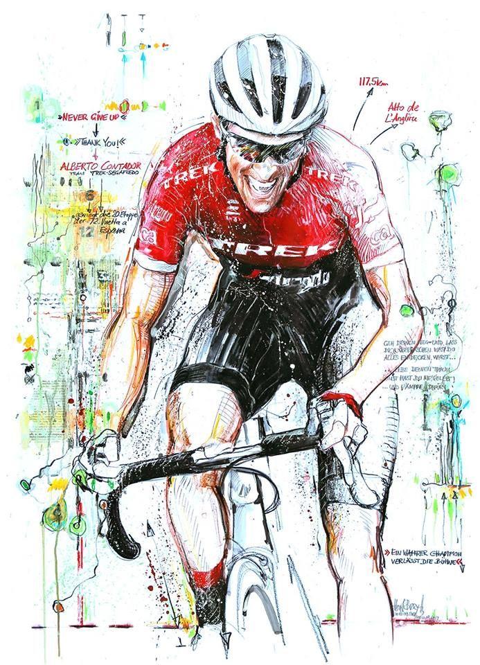 A tribute to Alberto Contador's final race Vuelta a Espana by Horst Brozy
