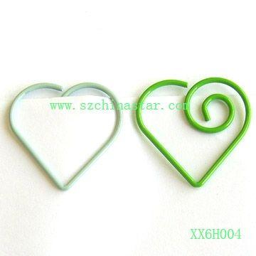 Shiny Metal Wire Heart Shape Paper Clips - Buy Paper Clip,Fancy Paper Clip,Shaped Paper Clip Product on Alibaba.com