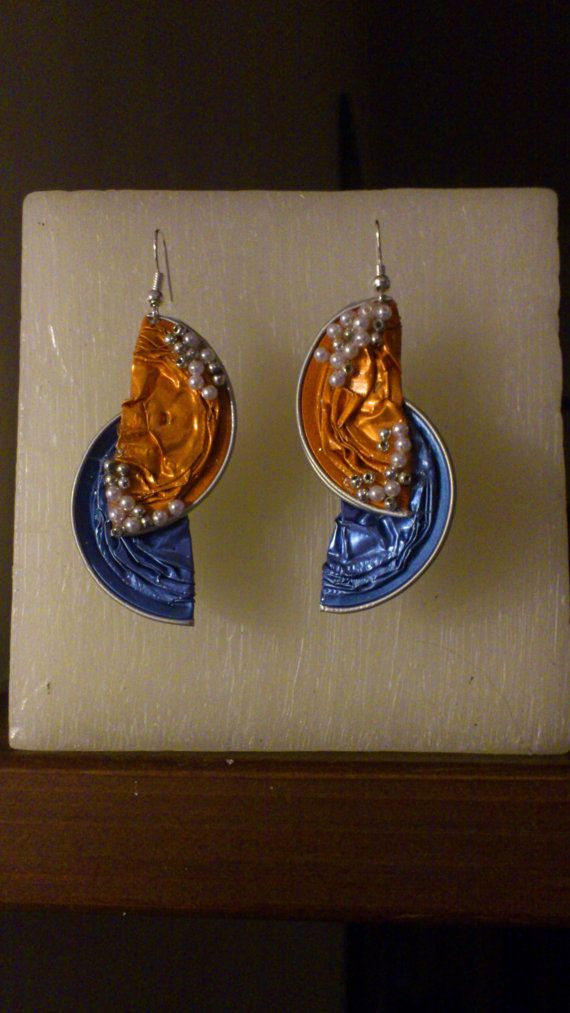 earrings made with nespresso capsules