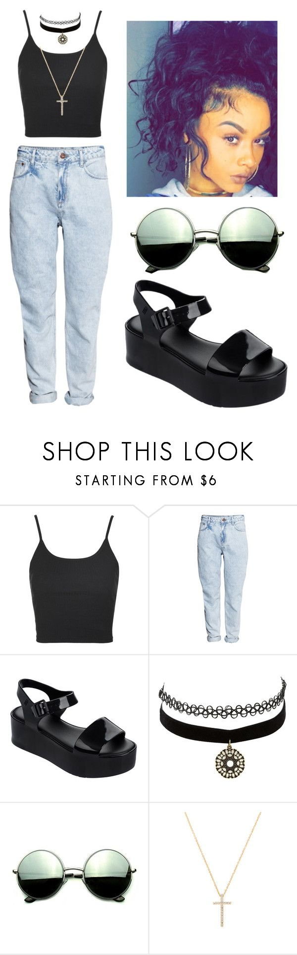 """Rock The Boat Aaliyah"" by beautyqueen-927 ❤ liked on Polyvore featuring Topshop, H&M, Melissa, Charlotte Russe, Revo and Nephora"