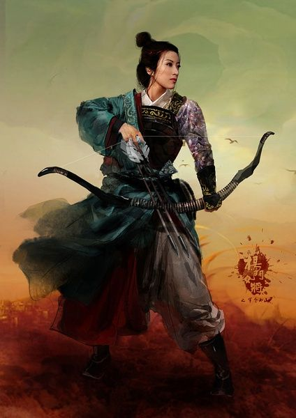 Promotional pictures of 杨门女将之军令如山 (Legendary Amazons), a film about the three female generations of the 楊 (Yáng) family.