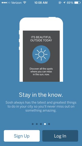 Sosh - City Guide ios app iphone