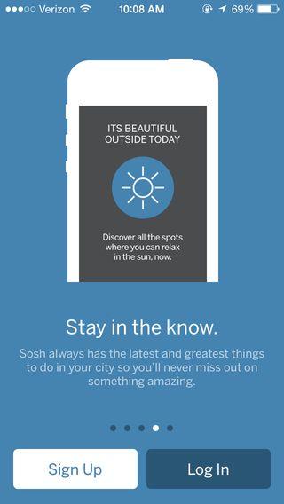 Sosh - City Guide ios app iphone