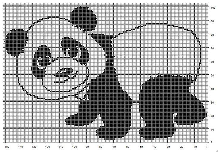 схемы для вязания картинок мишки