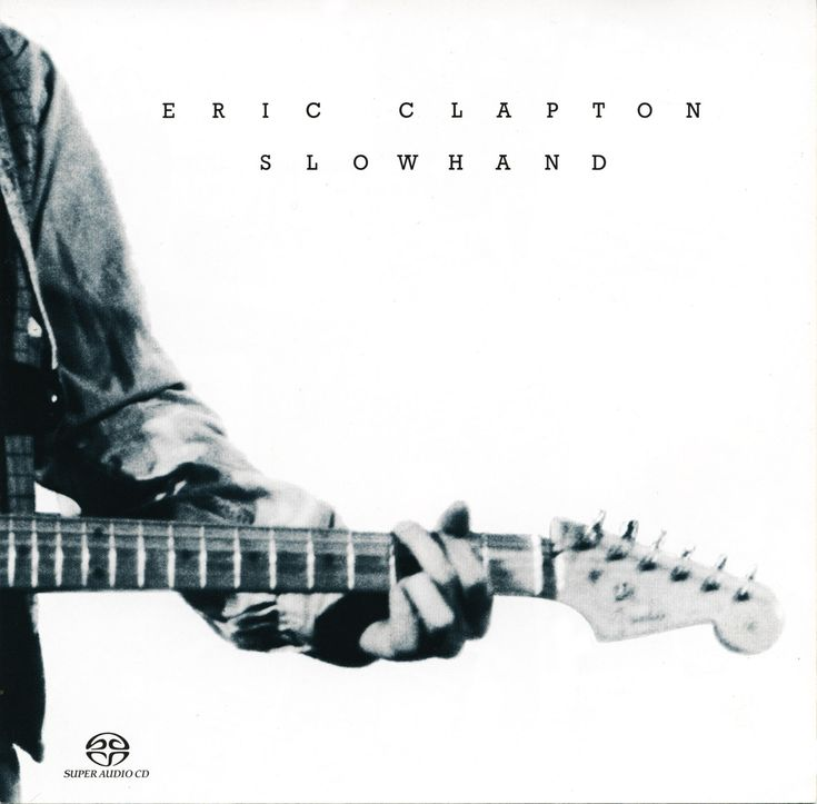 Eric Clapton Slowhand Black And White Album Art