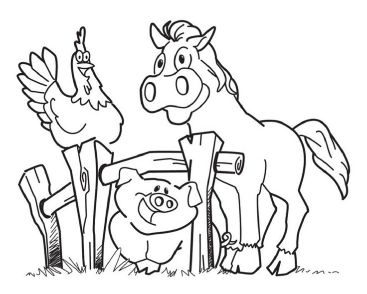 Animal Fun Coloring Pages For Kids Printable Free