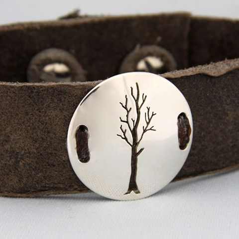 tree of life leather cuff - my urbanware