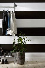 Wallpaper by ellos Tapet Maja Grå/hvit, Svart/hvit, Gul/hvit - Stripete tapeter | Ellos Mobile