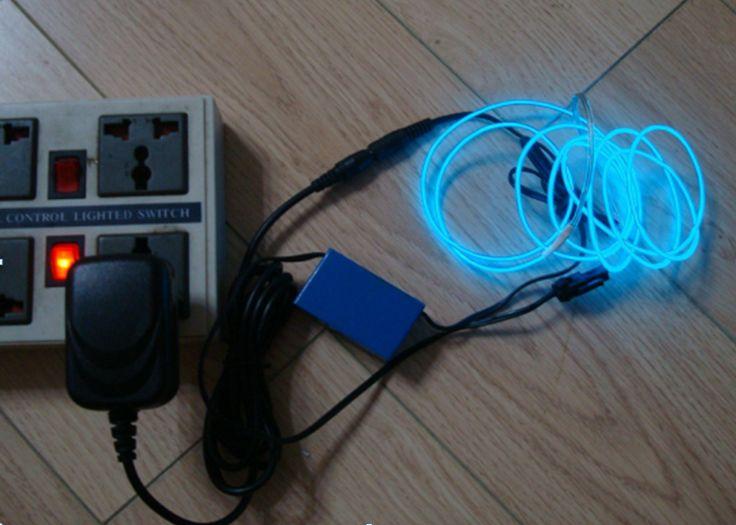 Fil lumineux électroluminescent bleu