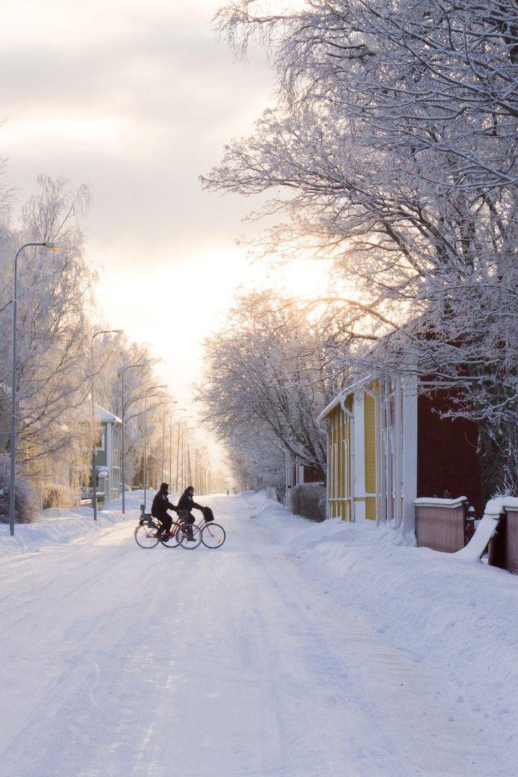 Snowy Finland is truly a winter wonderland!