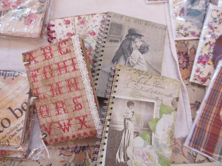 Zápisníky dekorované technikou decoupage