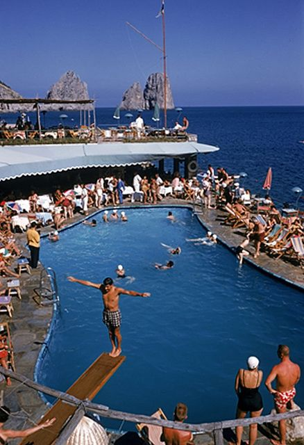 Canzone del Mare at the Marina Piccola, Capri, Italy, 1954 - Taken by Slim Aarons