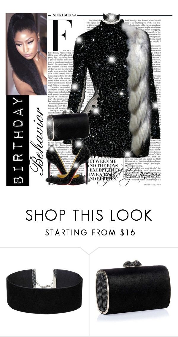 """Birthday Behavior 🖤"" by styledbynineaux ❤ liked on Polyvore featuring Nicki Minaj, Alexander McQueen, Miss Selfridge, Jimmy Choo and Chanel"